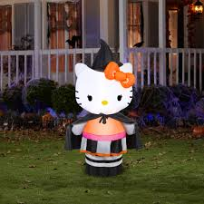 5 u0027 tall hello kitty witch halloween airblown inflatable walmart com