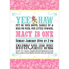 cute cowgirl birthday party invitations card serene cowgirl