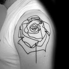 40 geometric rose tattoo designs for men flower ink ideas