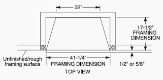 Fireplace Insert Dimensions by Fireplace Framing