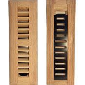 wood register unfinished oak floor vent