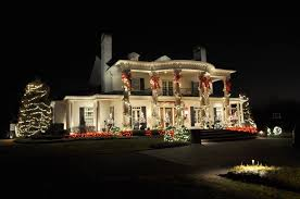 Large Outdoor Christmas Wall Decorations by Front Door Decoration With Light Bulbs And Hanging Garland Also F