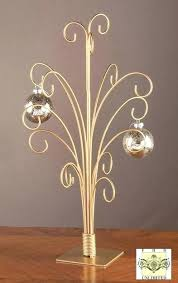 ornament trees gold metal ornament stand metal spiral