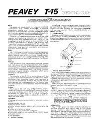 download free pdf for peavey t15 guitar manual