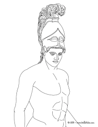ares the greek god of war coloring pages hellokids com