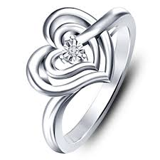 best platinum rings images Buy vorra fashion attractive heart shape ring in platinum plated jpg