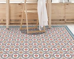 Vinyl Area Rugs Printed Vinyl Pvc Linoleum Mat This Is A Blue And Tile