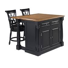 5 things to consider when choosing an island for your kitchen home marketplace home styles monarch kitchen island and 2 stools black with distressed oak veneer