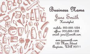 hair stylist business card design 601191