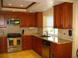 kitchen backsplash tile cherry cabinets interior design