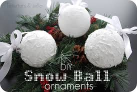Snow White Christmas Decorations by Snow Ball Ornaments Homemade Christmas Decor The Scrap Shoppe