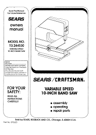 sears saw 113 244530 user guide manualsonline com