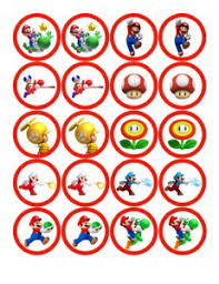 mario cake toppers mario bros cupcake toppers josh byers