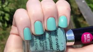wet n wild megalast i need a refresh mint video swatch youtube