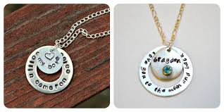 metal circle necklace images Metal stamped washer necklaces amy latta creations jpg