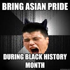 Funny Black History Memes - bring asian pride during black history month linsanity wolf