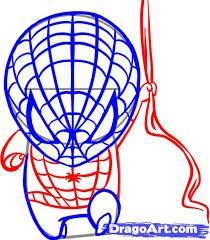 draw chibi spiderman step step chibis draw chibi