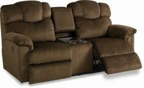 La Z Boy Hayes Casual by Reclining Loveseat With Console Cup Holders Foter