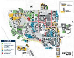 Atlanta Street Map Georgia Tech Parking Map Georgia Map