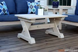 Plans For Wooden Coffee Tables by Small Outdoor Coffee Table Rogue Engineer