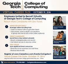 Georgia travel careers images College of computing coc virtual career fair c2d2 georgia png