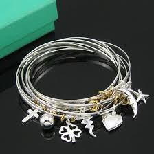 bangle charm bracelet sterling silver images Sterling silver bangle charm bracelet centerpieces bracelet ideas jpg