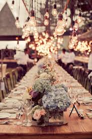 wedding chandelier hydrangea centerpieces