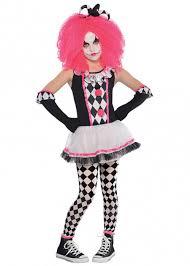 Kids Halloween Clown Costumes Kids Halloween Pink Killer Clown Costume Ebay