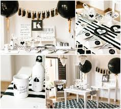 simple black and white party ideas hens party classy decor