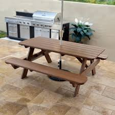 Furniture Enjoy Your Backyard With Perfect Picnic Tables Lowes by Picnic Table Dining Room Marceladick Com