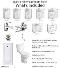 Vanity Bathroom Suite by Buy Blanco Vanity Bathroom Suite Gloss White Bathshop321