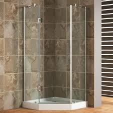 Shower Doors Repair Bathroom Neo Angle Corner Shower Enclosure With White Acrylic