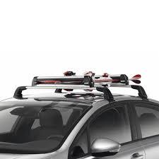 porta sci auto sulle barre portatutto per 4 paia di sci originale peugeot 208