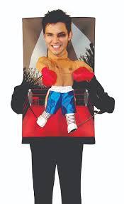 Boxer Halloween Costume Men Mens Funny Midget Boxer Fighter Puppet Halloween Fancy Dress