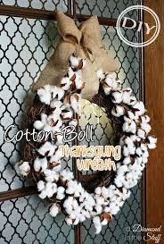 thanksgiving wreaths diy diy cotton boll thanksgiving wreath u2013 top easy design for interior