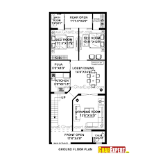 house plan for 24 feet by 56 feet plot plot size 149 square yards