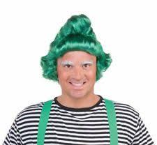 Oompa Loompa Halloween Costumes Adults Green Elf Wig Oompa Loompa Halloween Christmas Munchkins Costume