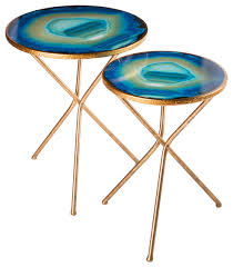 faux agate side table agate coffee table popular faux leather side tables and end for your