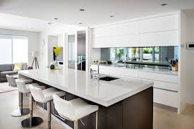 white contemporary kitchen cabinets gloss perth pictures of yellow kitchens contemporary kitchen