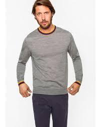 sweater mens lyst paul smith s grey marl merino wool sweater with artist