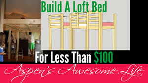 diy 100 loft platform bed build it yourself do it youtube