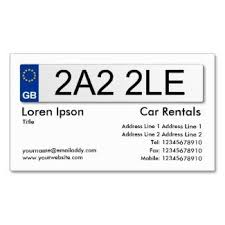 Standard Business Card Format Business Cards For The Automotive Industry And Vehicle Drivers