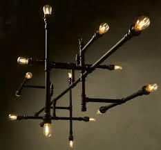 bathroom edison light bulb chandelier ideas and steampunk