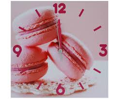Pendules Murales Cuisine by Horloge Tableau Toile Murale Pendule Deco Gourmand Macaron 551