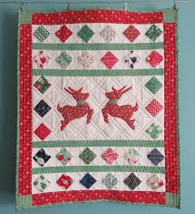 reindeer friends mini quilt by julie hirt at 627 handworks based