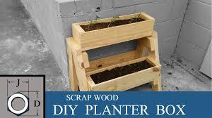 diy planter box diy planter box from scrap wood youtube