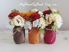 orange grove mason jar country vintage style by funflorals on etsy