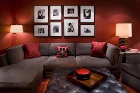 Pillows For Brown Sofa by Gorgeous Modern Interior With Brown Sofa And Red Walls With Photo