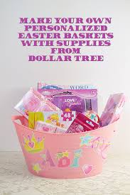 personalized easter basket personalized easter baskets for 5 or less dollar tree craft