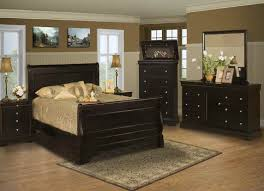 classic sleigh bedroom set in black cherry finish 00 013